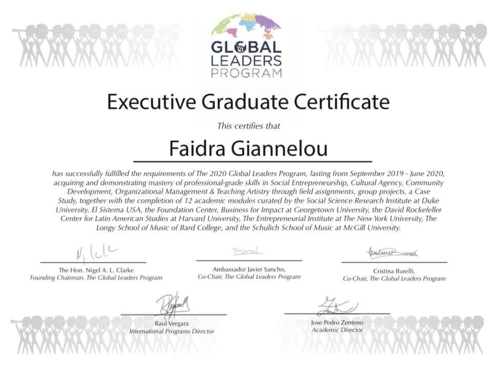 Graduation from the Global Leaders Program